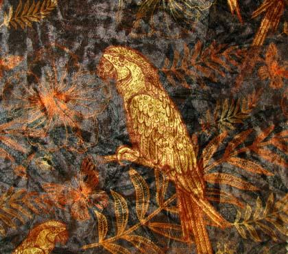 Ice Velvet Engraving Parrot