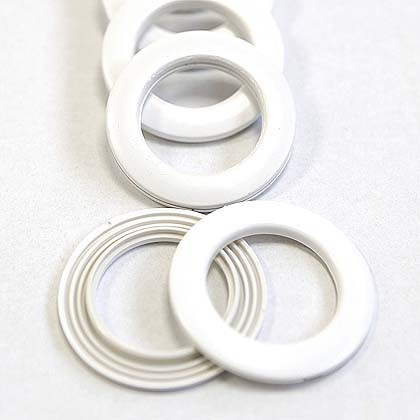 Clip-together Eyelets, White